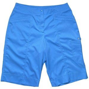 Tail Tech Blue Golf Bermuda Shorts With T Holders